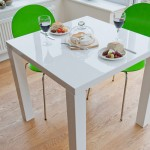 Fern White High Gloss Kitchen Table