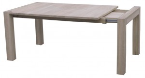 Naturale Solid Washed Oak Extending Dining Table