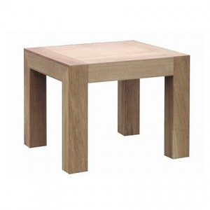 Naturale Solid Washed Oak Side Table