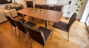 Assi Walnut and Moda Extendind Dining Table