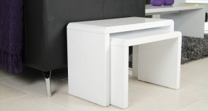 Luca White High Gloss Nest of Tables £119.00