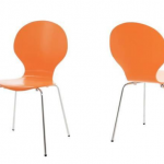 Sunset Orange Fern Dining Chair £38.00