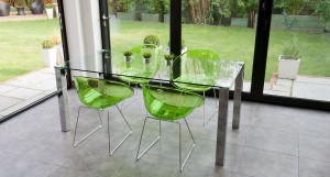 Tiva Glass and Gliss Large Dining Set