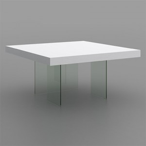 Aria White Oak and Glass Square Table