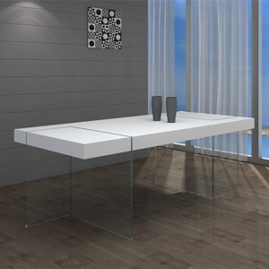 Fiera White Oak Dining Table