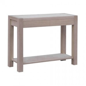 Naturale Solid Washed Oak Console Table