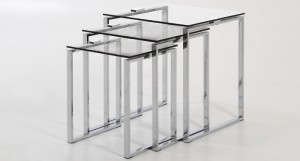 Solero Clear Glass Nest of Tables
