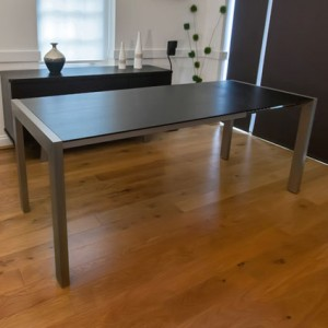 Casa Matt Black Extending Dining Table £419.00