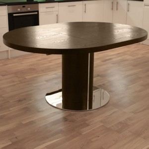 Curva Round Wenge Extending Dining Table £599.00