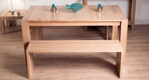 Naturale Washed Oak Dining Bench Extending Dining Set