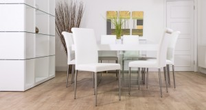 Aria White Oak Square and Tod Dining Set from £1239.00