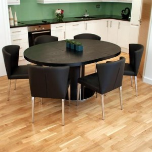 Curva Black Ash Extending Dining Set £975.00