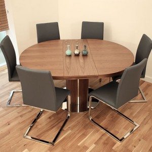 Curva Walnut and Verona Extending Dining Set £935.00