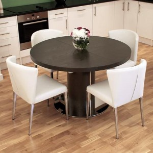Curva Wenge Dark Wood Extending Dining Set £975.00