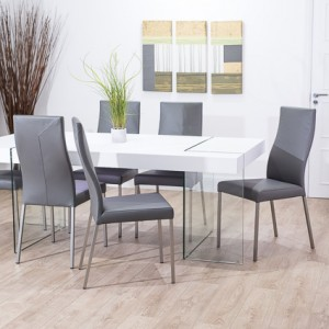 Fiera White Oak and Iva Dining Set