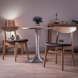 Naturale Small Round Washed Oak and Retro Dining Set £405.00