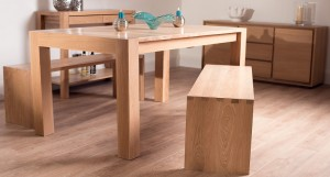 Naturale Washed Oak Dining Bench Extending Dining Set £1079.00