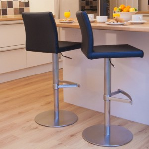 Elise Stainless Steel Gas Lift Bar Stool £149.00