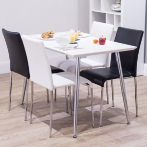 Tirano White Gloss and Tori Dining Set £359.00