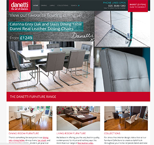 New danetti website