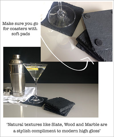 Coasters to protect table