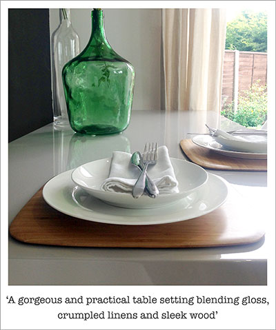 Practical but gorgeous table protectors