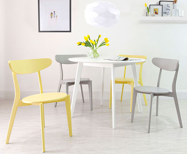 Terni White Round Dining Table