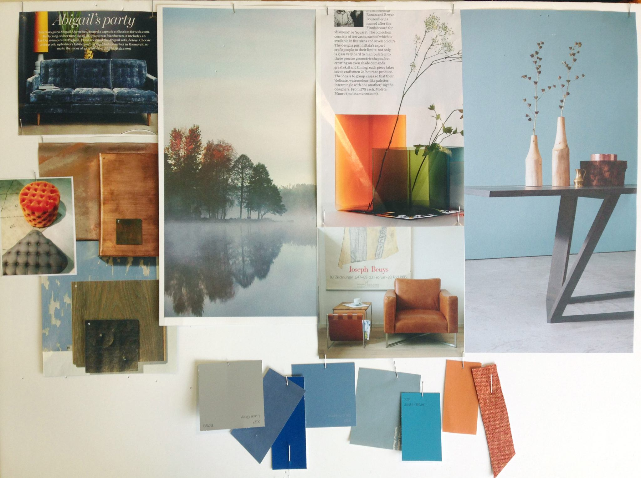 One of Our Colour Trend Boards That Inspired the Look