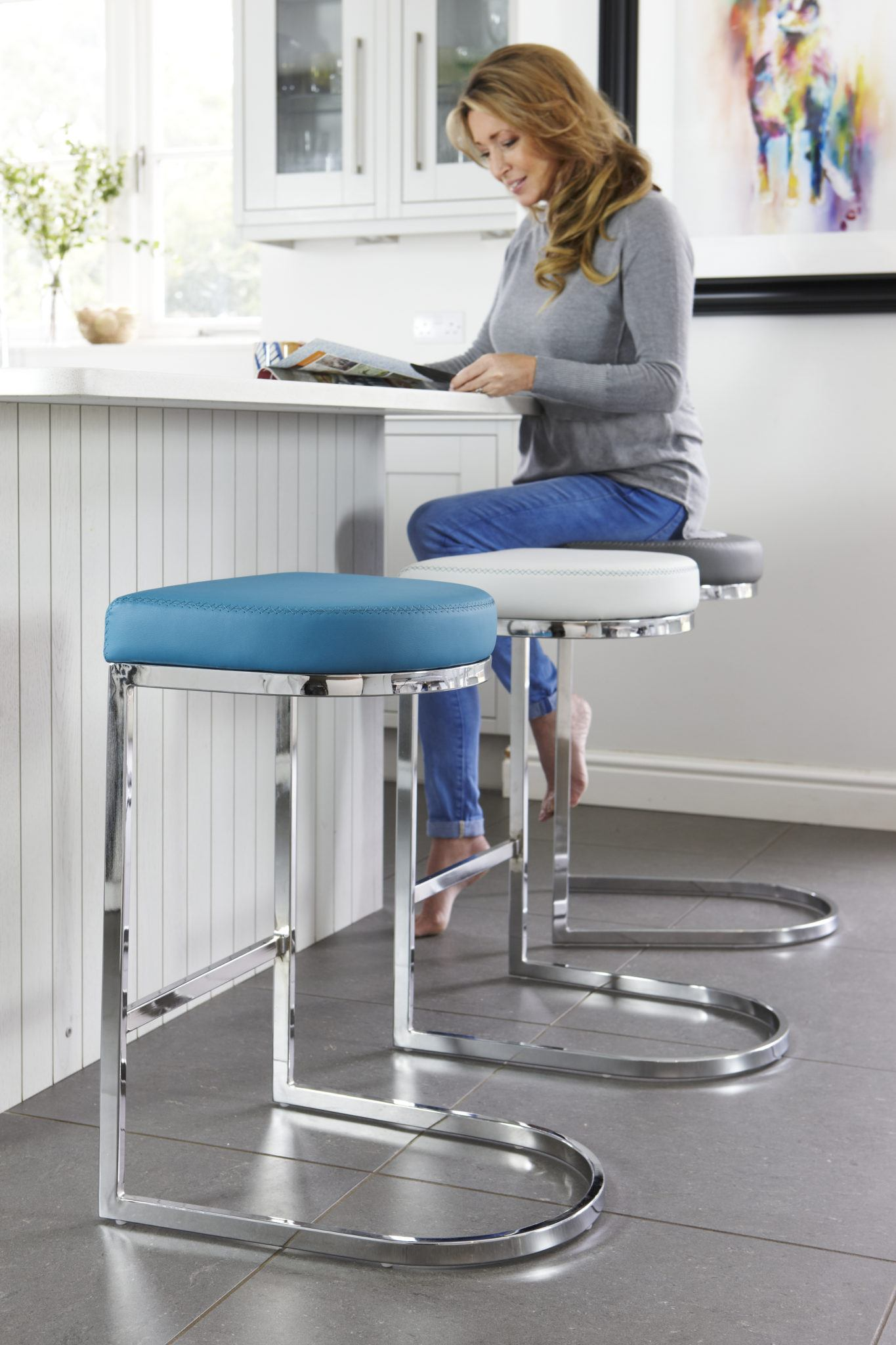Julia Chrome Barstools
