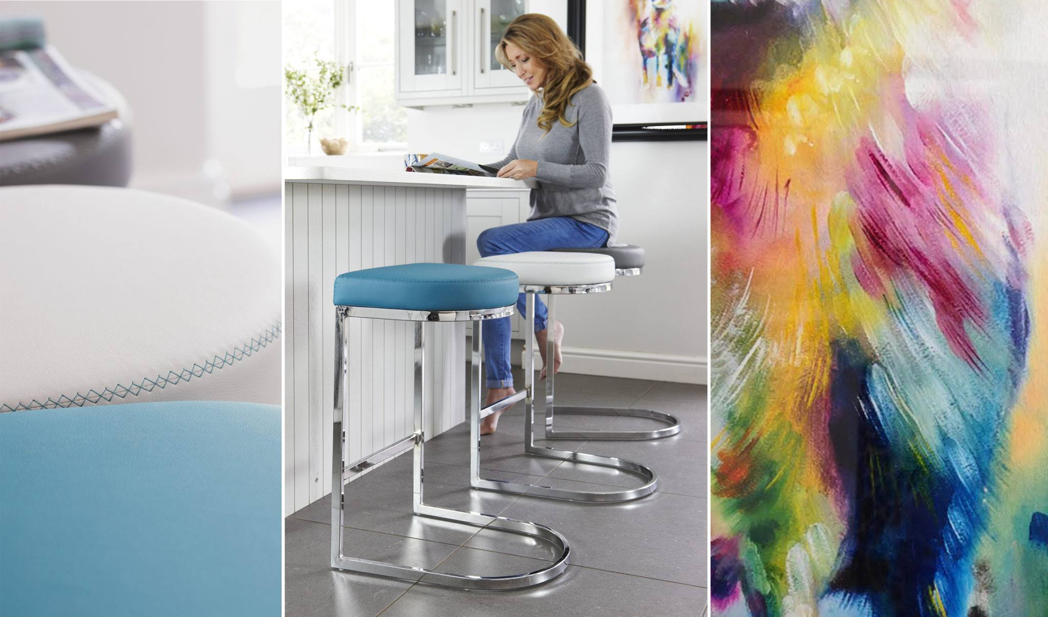 Form Chrome Bar Stools from the Exclusively Danetti with Julia Kendaell Range