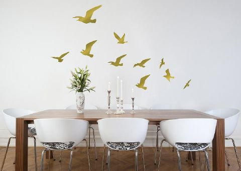 Flock-of-Birds-wall-sticker-gold