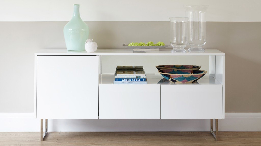 Reflect White Gloss Sideboard- no frame