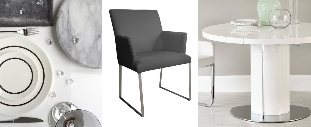 Modern Real Leather Dining Chairs UK