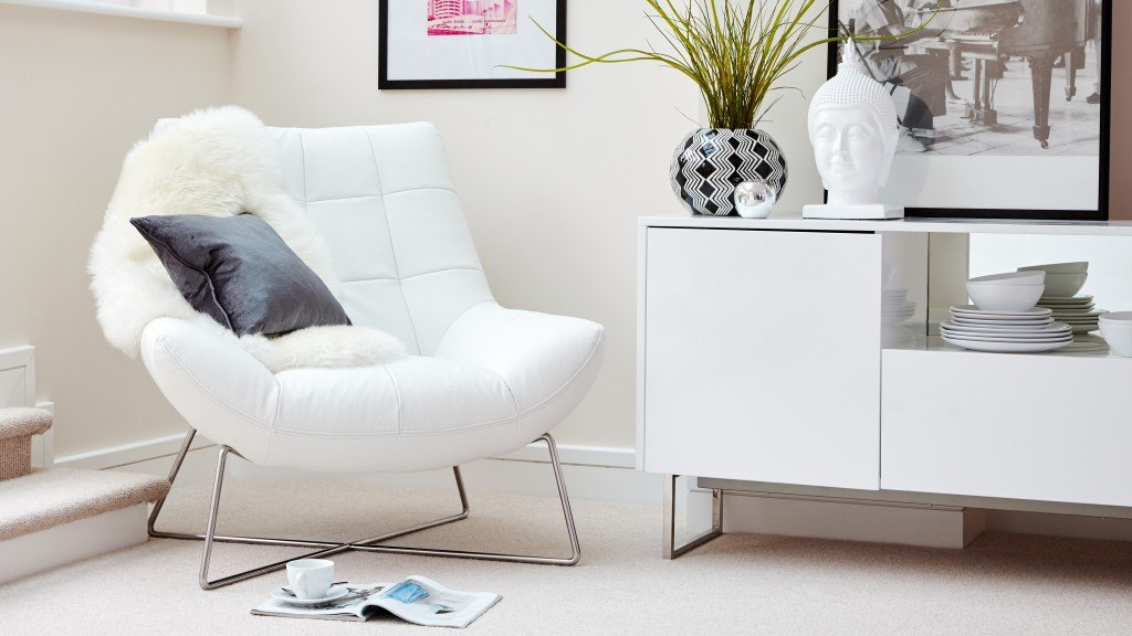 Modern White Leather Occasional Chair