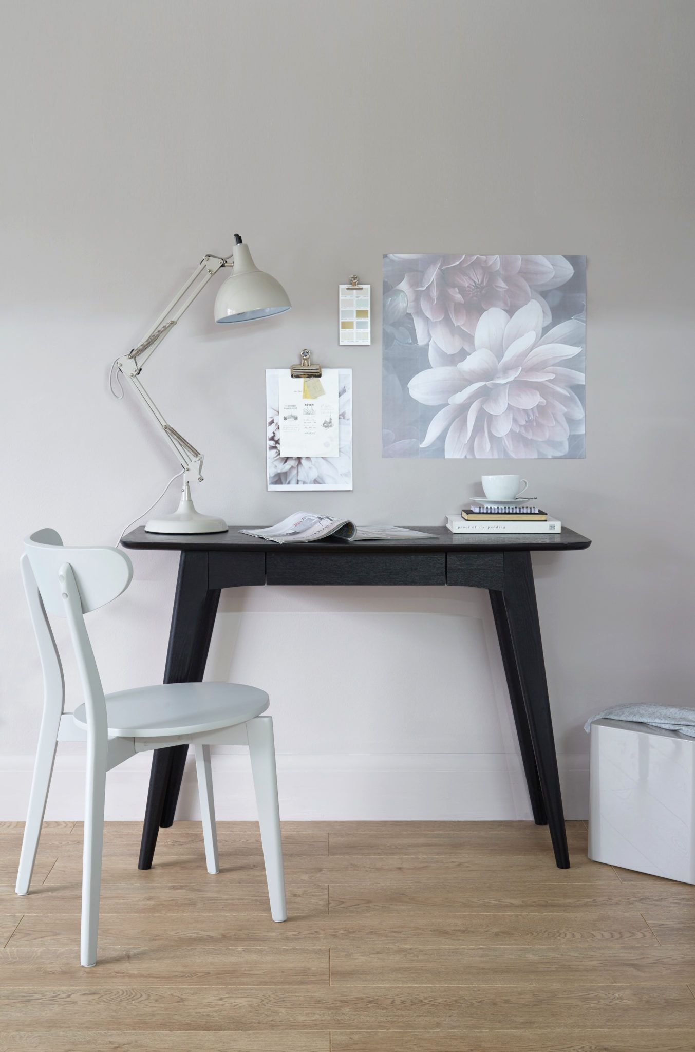 Scandi Black Ash Desk Look 2
