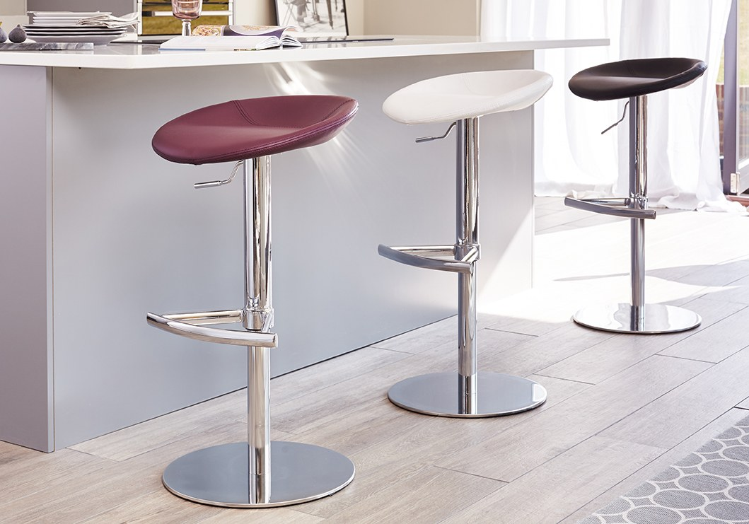 Anzio Modern Gas Lift Bar Stool Danetti