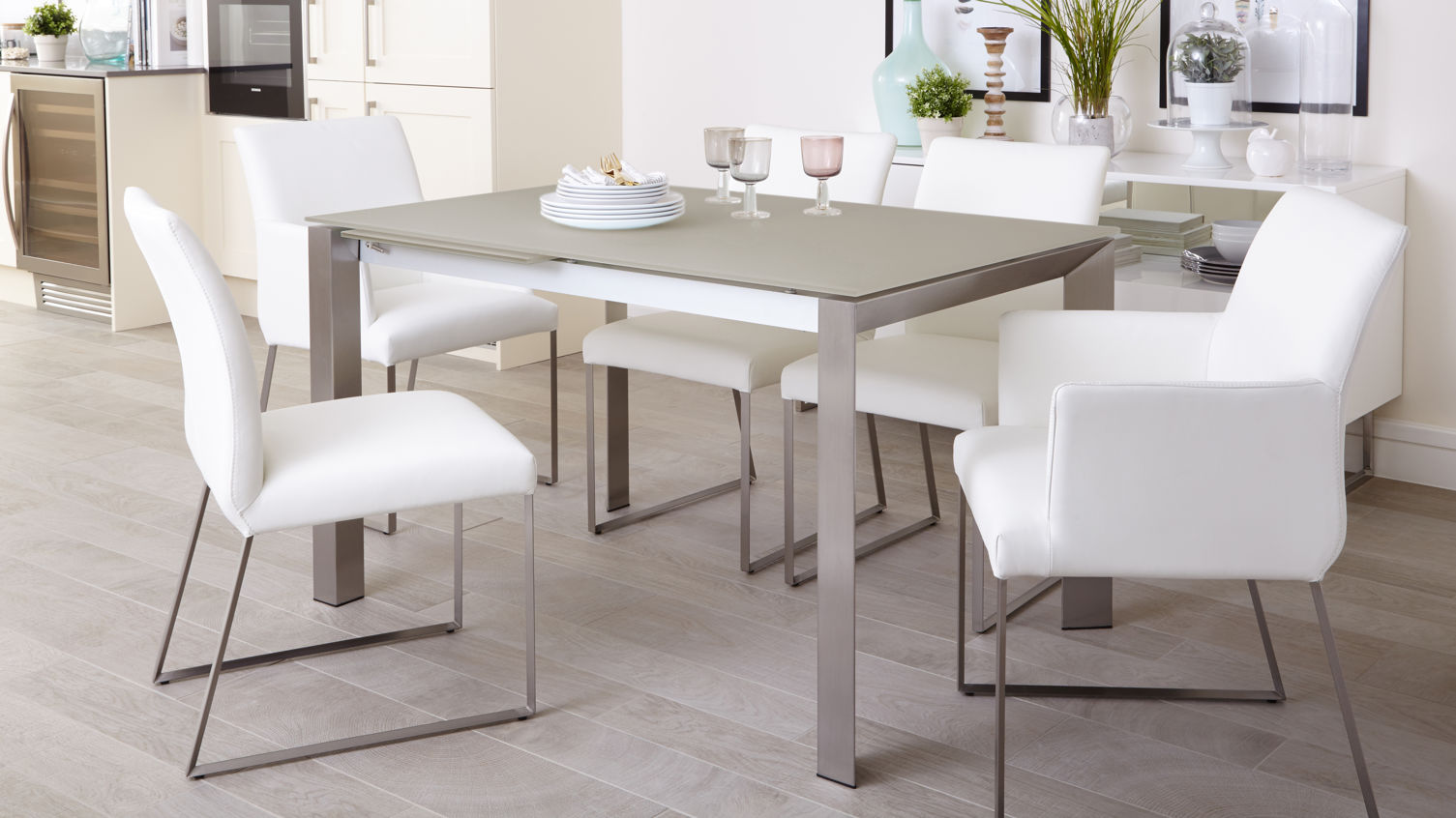 eve-grey-frosted-glass-with-brushed-stainless-steel-and-monti-leather-extending-dining-set-3