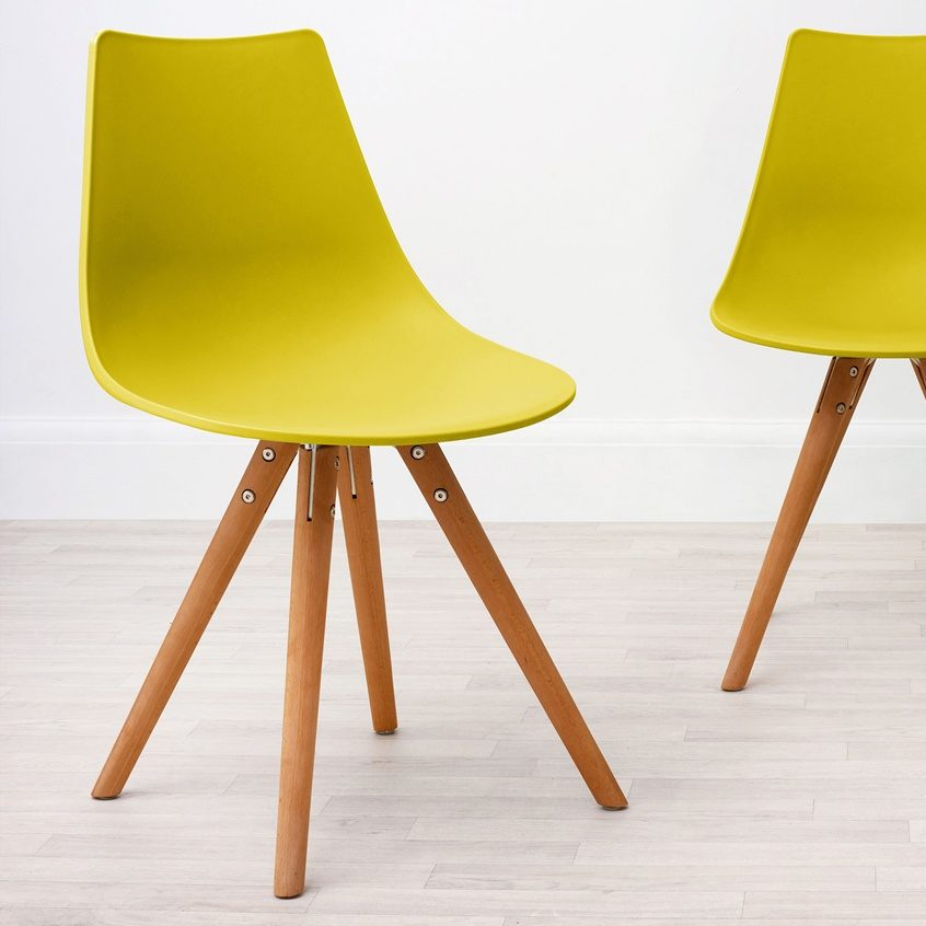 Finn Dining Chair in Yellow, £55