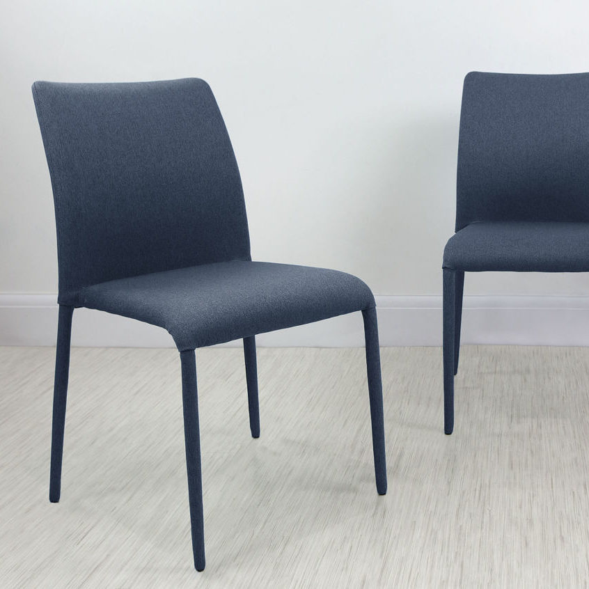Riva Stackable Fabric Dining Chair in Ink Blue, £69