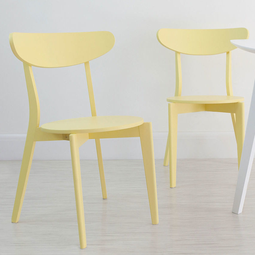 Senn Colourful Dining Chair in Yellow, £45