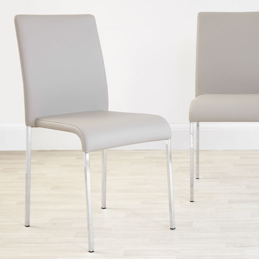 Tori Modern Dining Chair in Cool Grey, £69