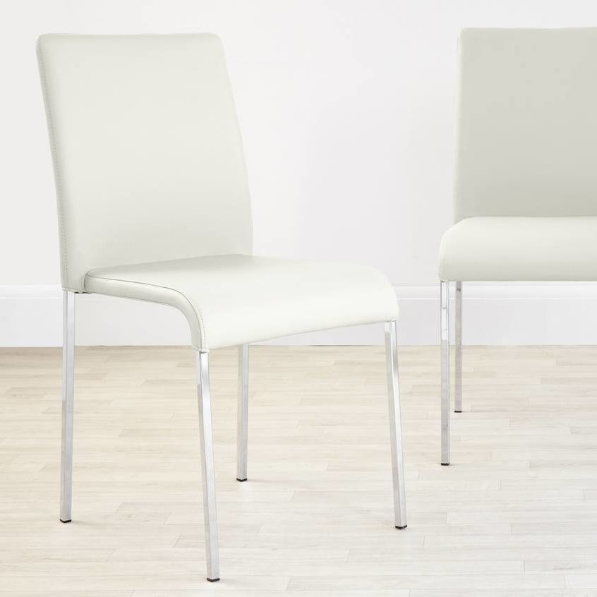 Tori Modern Dining Chair in White, £69