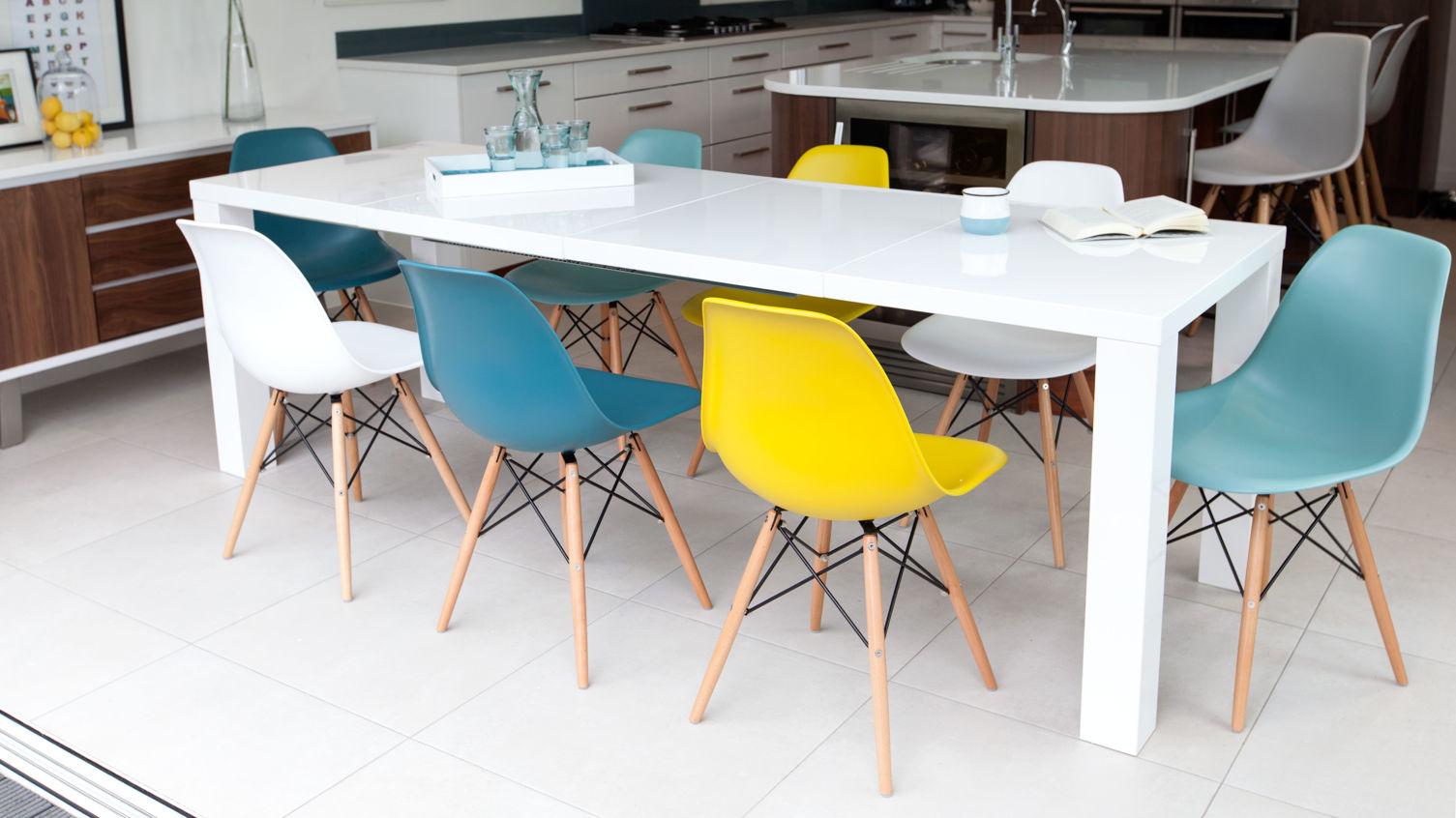 Fern Extending White Gloss Dining Table