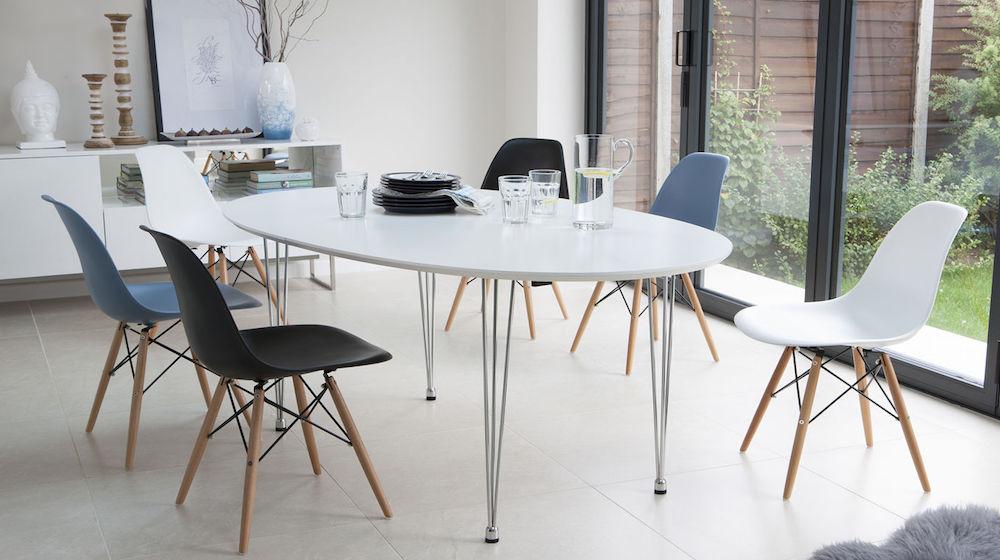 Ellie White Oval Extending Table