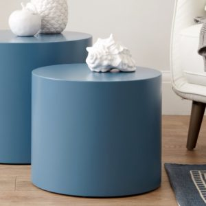 Pebble Powder Blue Side Tables