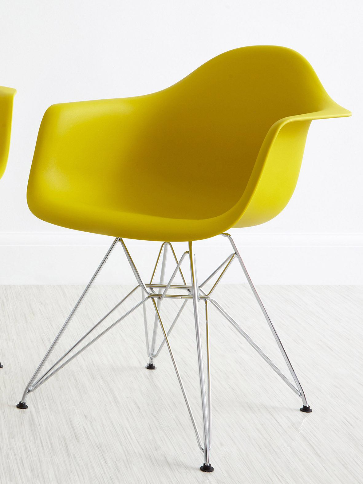Eames Mustard Yellow Wire Frame Armchair from danetti.com