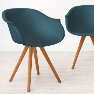 Finn dining armchair. Eames inspired dining chair.