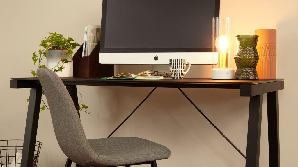 Black Matt Glass Desk