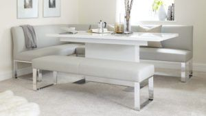 Loop Corner Bench and Sanza Extending Dining Table