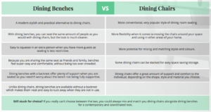 Dining Benches vs Dining Chairs